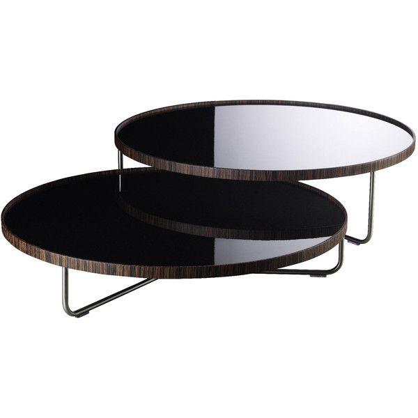 Modloft Adelphi Black Lacquer On Ebony Coffee Table ($599) ❤ Liked On  Polyvore Featuring
