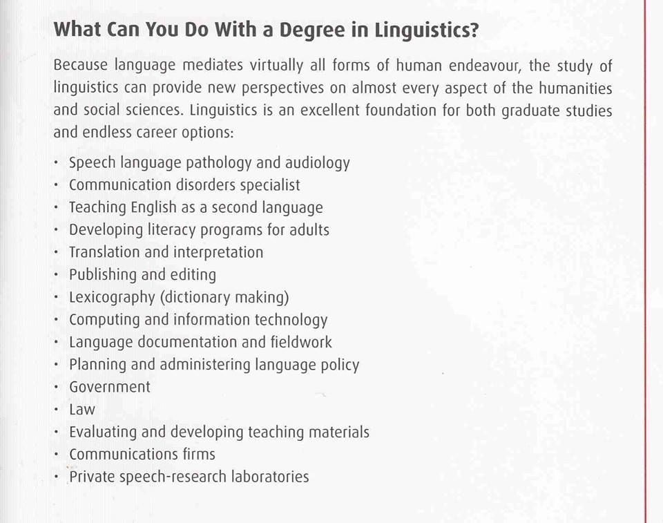 What Can You Do With A Degree In Linguistics Career Options Love Languages