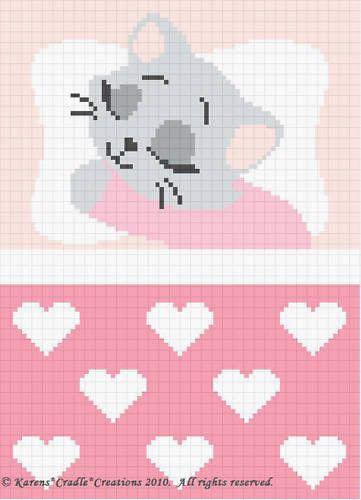 Photo of Crochet Patterns-Sweet Dreams Baby Girl Kitten Pattern