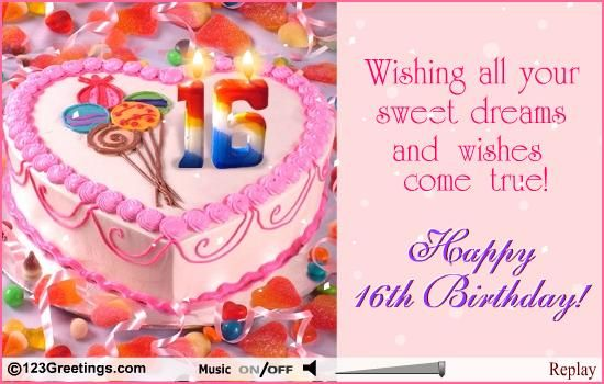 Sweet sixteen birthday images sweet 16th birthday free milestones ecard free bookmarktalkfo Choice Image