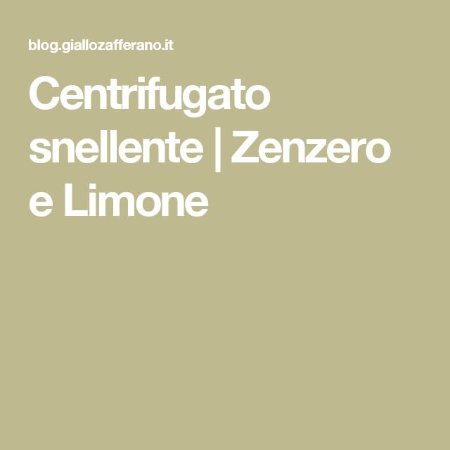 Centrifugato snellente   Zenzero e Limone