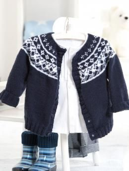 Baby Fair Isle Yoke Cardigan pattern | babies knitting and ...