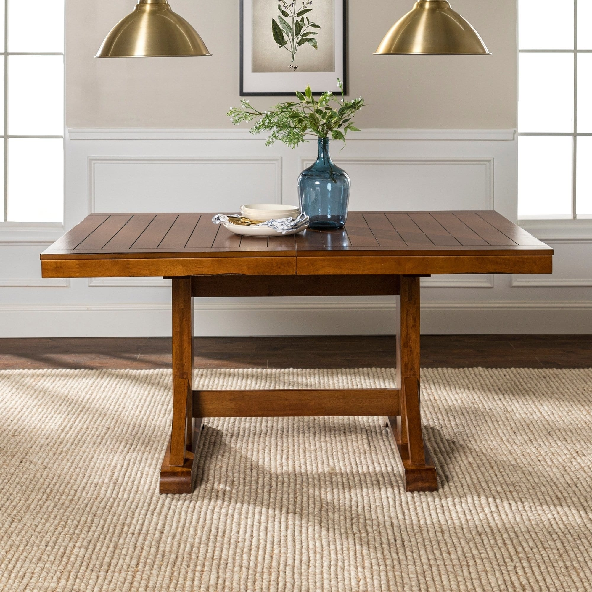 The Gray Barn Bluebird 60 Wood Dining Table Antique Brown 77 X 40 30h