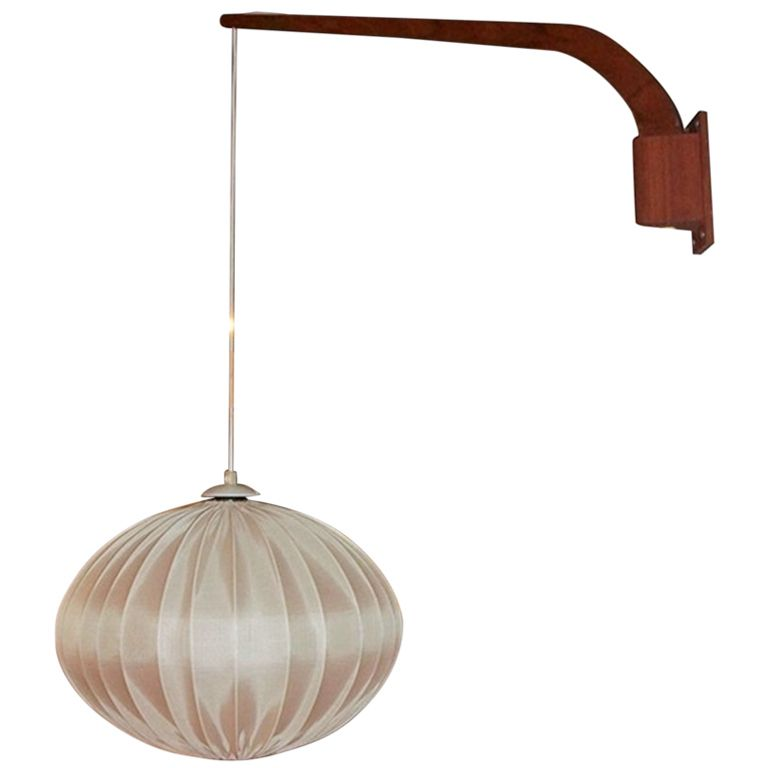 Wall Hanging Lamps 1960s danish teak hanging wall lamp | teak, walls and retro furniture