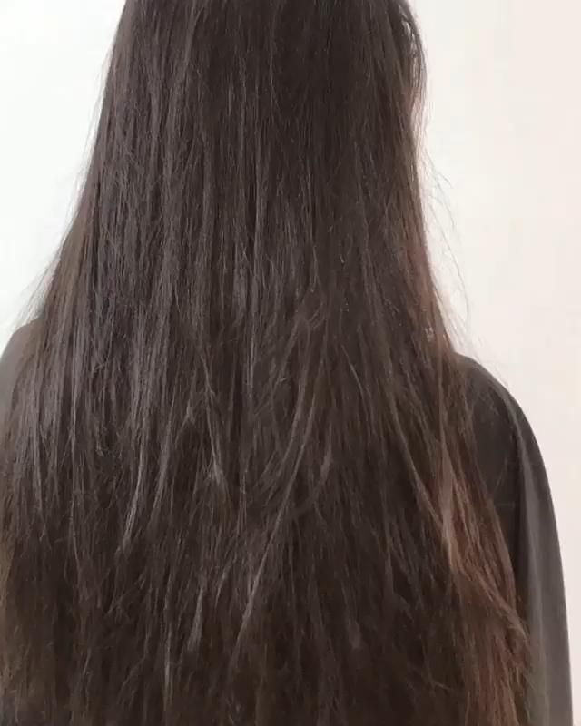 Straight Hair Before After Keratin Treatment