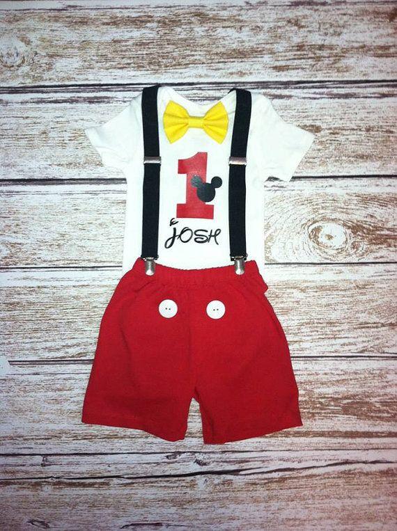 Camiseta de cumpleaños personalizado de Mickey Mouse Mickey f6d186bd59b28