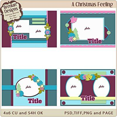 A christmas feeling 4x6 greeting card templates digital goodies a christmas feeling 4x6 greeting card templates m4hsunfo