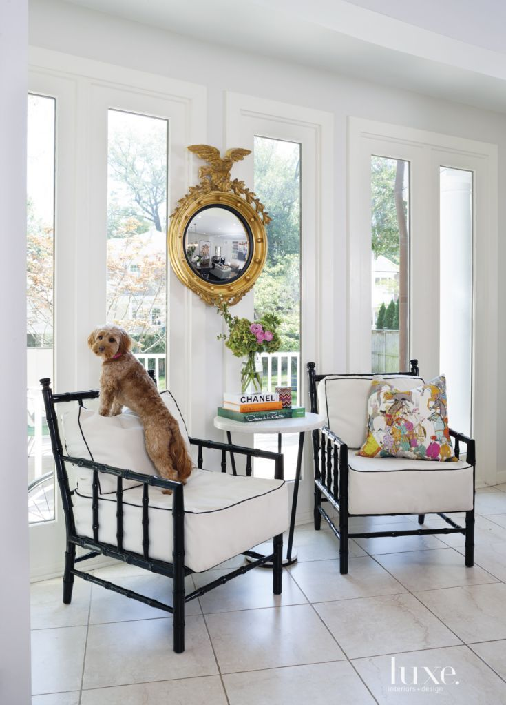 The Designer Used The Coupleu0027s Federalist Mirror In The Kitchen Sitting  Area Along With Chanel