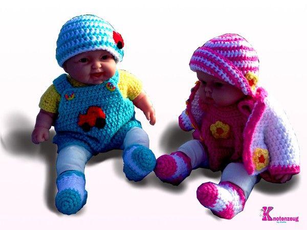 Puppenkleidung für 35 cm Puppen, Häkelanleitung für Anfänger | ideas ...