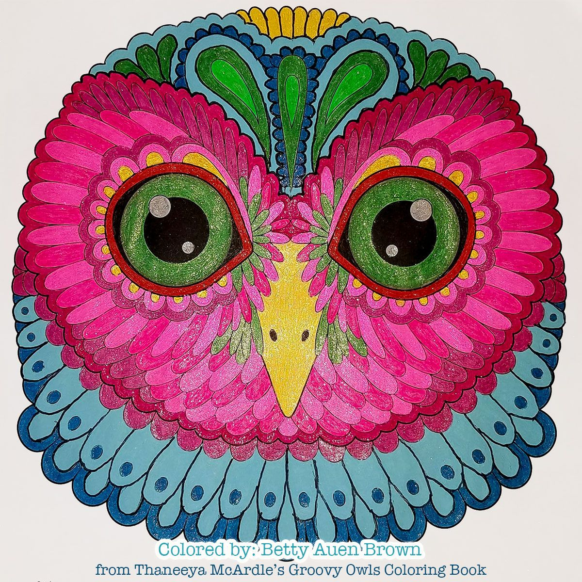 Owl Coloring Page From Thaneeya Mcardle S Groovy Owls