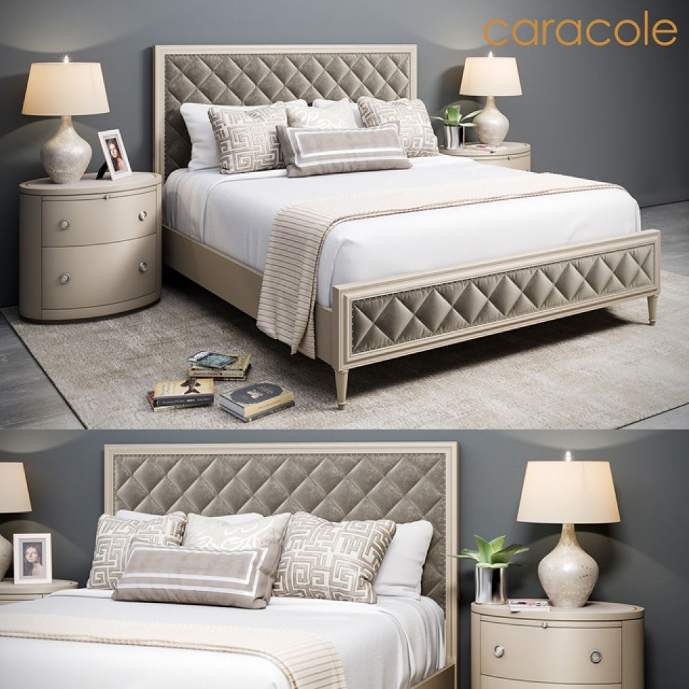 Caracole Diamonds Are Forever Bed 3d Model Download Cgsouq Com Bedroom Sets Bed Furniture Platform Bedroom Sets