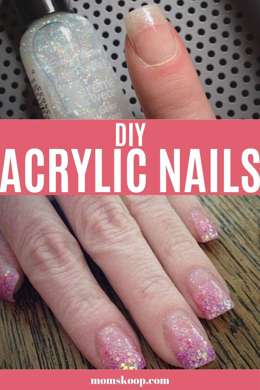 Diy Acrylic Nails Diy Acrylic Nails Acrylic Nails At Home Nails At Home