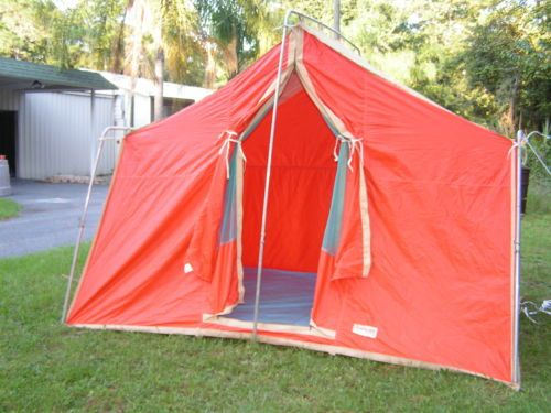 Winchester c&ing tent 8x10 rare vintage 1970u0027s canvas nylon large like coleman & Winchester camping tent 8x10 rare vintage 1970u0027s canvas nylon ...