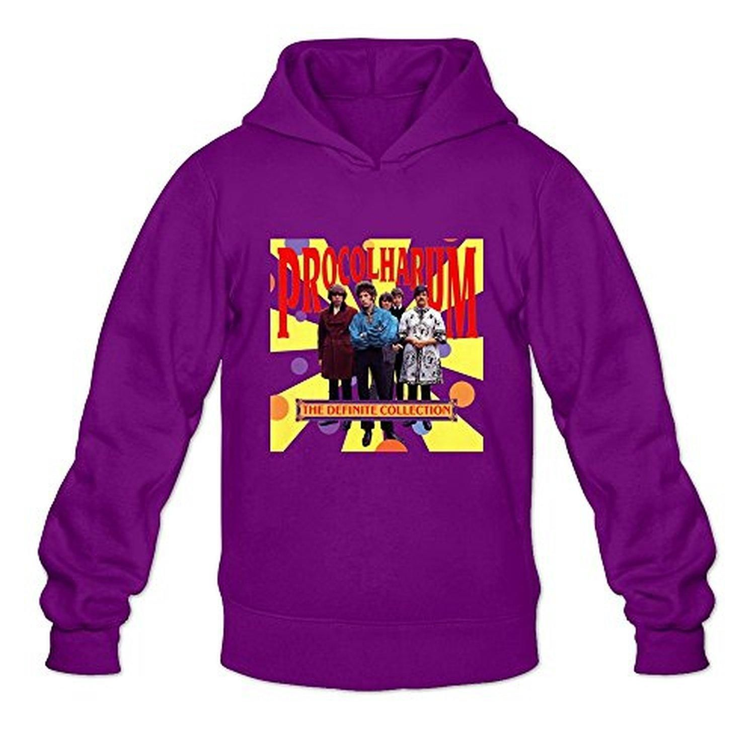 TWSY Men's Procol Harum Long Sleeve Hoodies Size XL Purple,100% Cotton - Brought to you by Avarsha.com