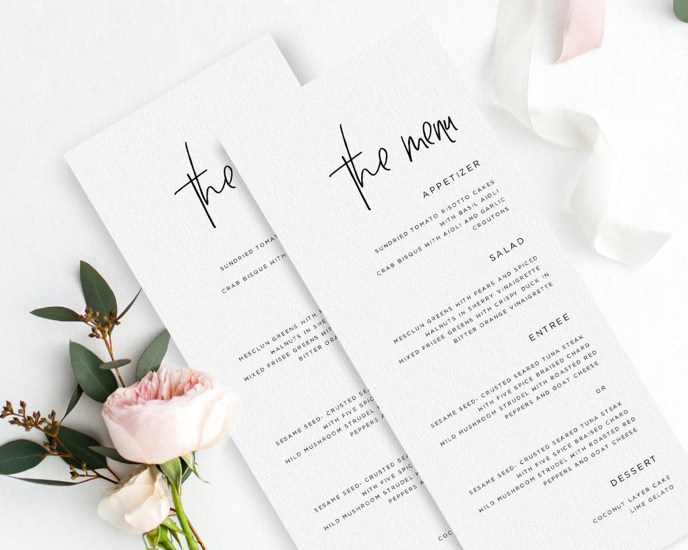 Wedding Menu Template - Printable Wedding Menu Download, Modern Wedding Menu, Printable Wedding Menu, OM-031, Menu Template Card #weddingmenutemplate Wedding Menu Template Printable Wedding Menu Download | Etsy #weddingmenutemplate