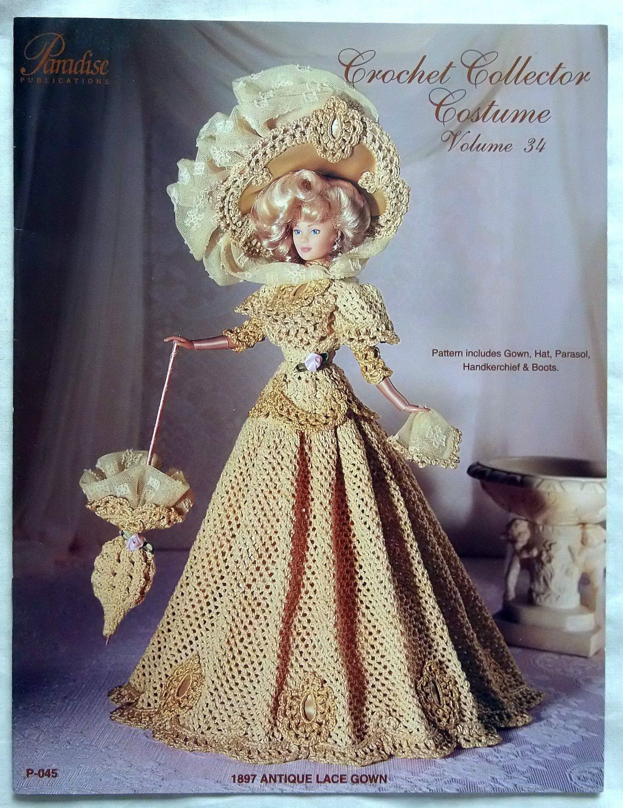 Paradise Fashion Doll Barbie Crochet Collector Costume Patterns YOU ...