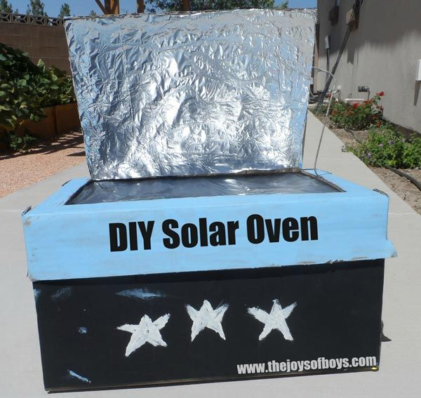 Solar oven made from cardboard boxes make your own solar for How to build a solar oven for kids