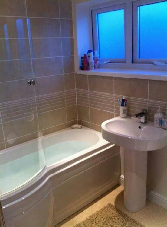 P Shaped Bath In Our Small Bathroom Small Bathroom Bathtub Remodel Bathroom Design
