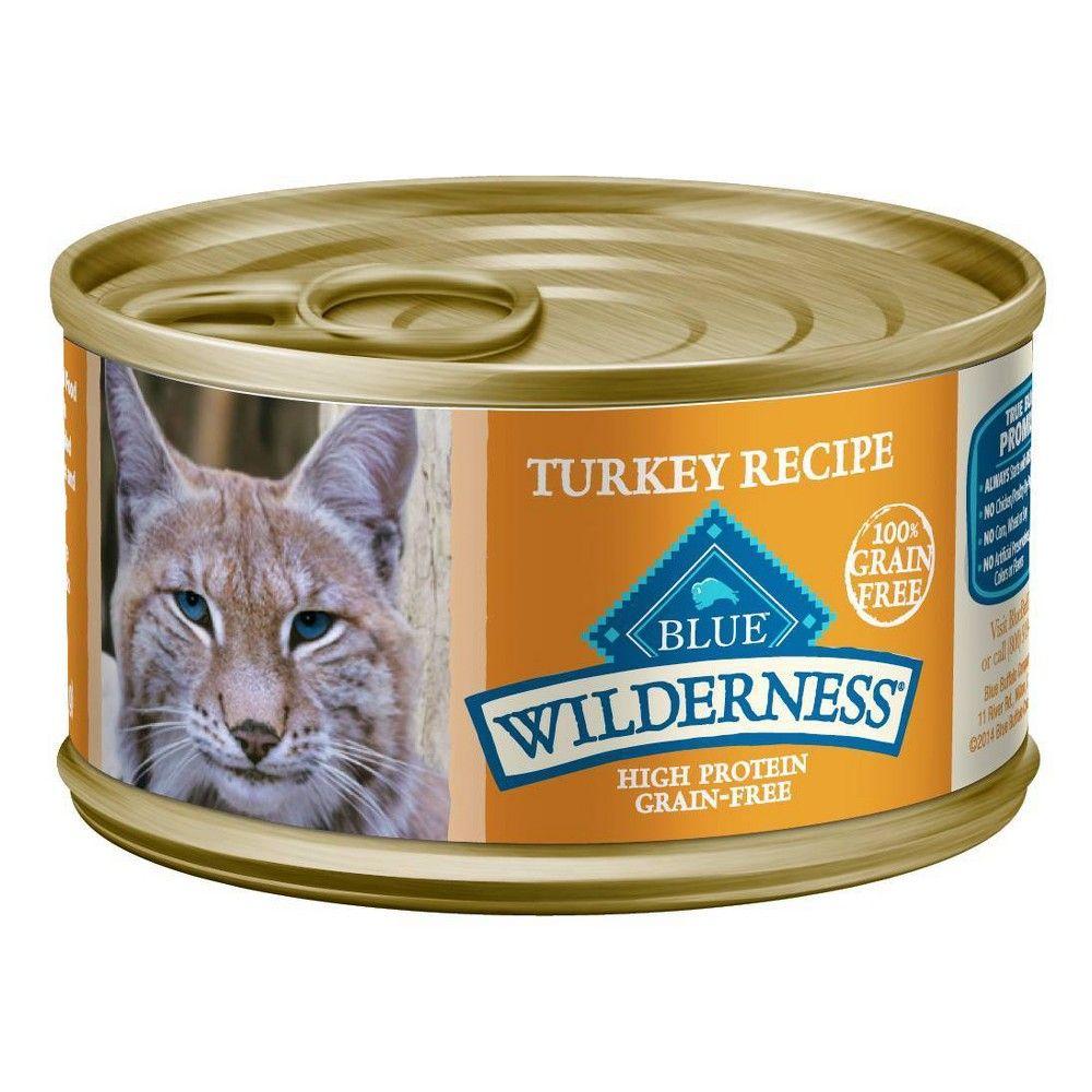 Blue Buffalo Wilderness Grain Free Turkey Recipe Wet Cat Food 24 Pk 3oz Canned Cat Food Cat Food Grain Free
