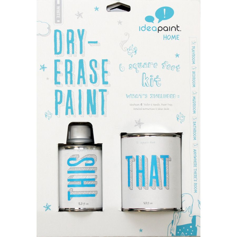 Ideapaint 6 Sq Ft White Gloss Dry Erase Paint Lowes Com Dry Erase Paint Dry Erase Dry Erase Board