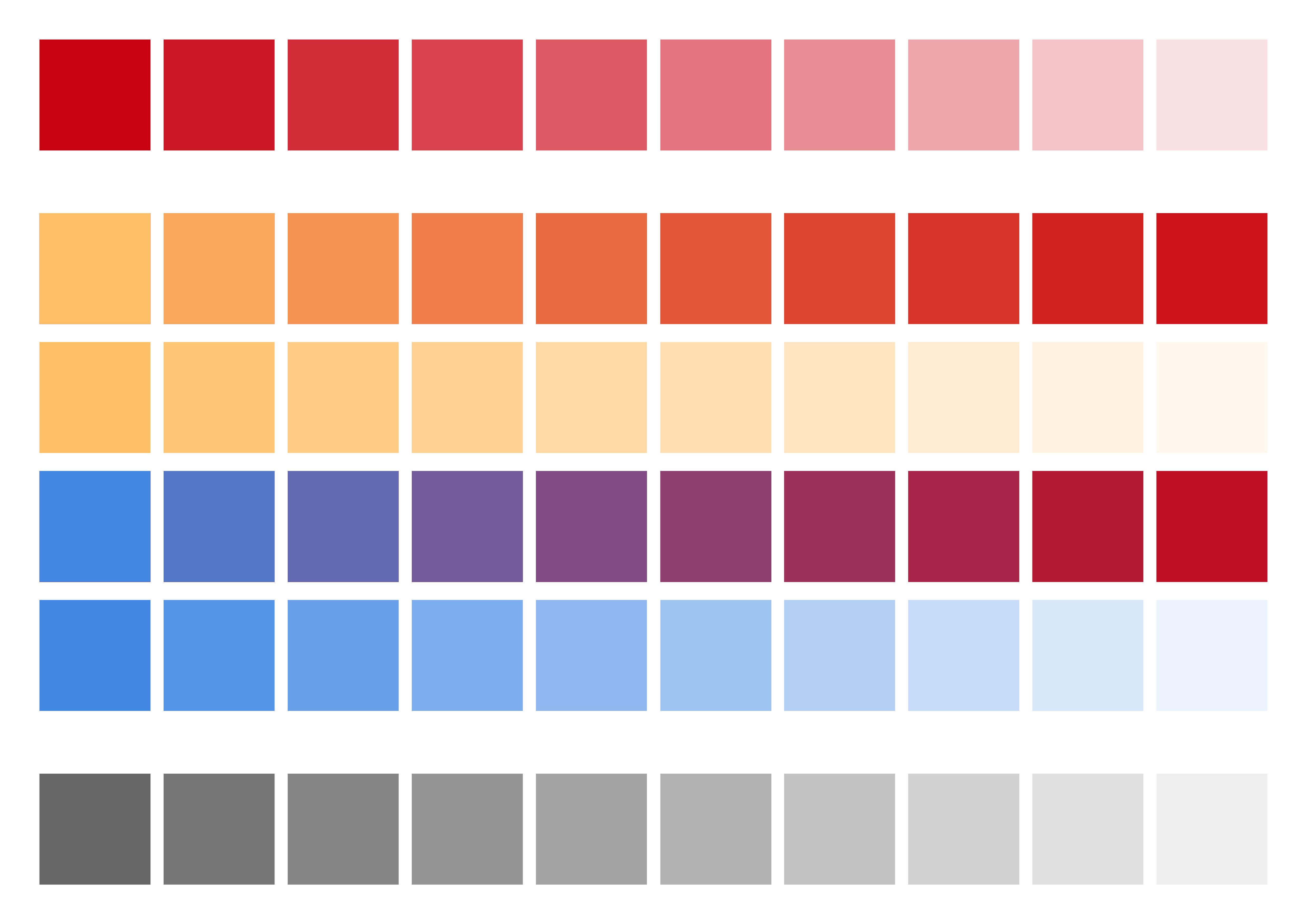 Couleur Avec Du Rouge gamme des couleurs : gamme réalisée lors de la qualification