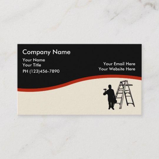 House Painter Design Business Card Zazzle Com In 2021 Illustration Business Cards Business Design Decorator Business Card
