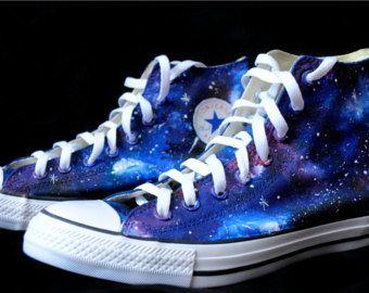 684fb31efa428 Personalizado pintado a mano zapatos de galaxia