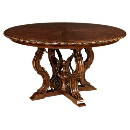 Bring A Touch Of Elegance To Your Home With This Ornate Round Dining Table,  Showcasing