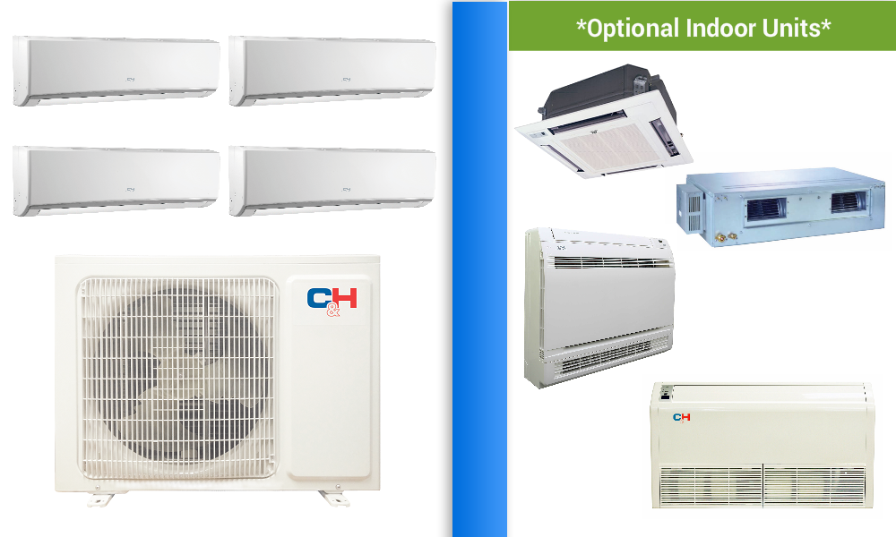 Heat Pumps Systems warehouse. Shop C&H 4 Zone 30K Mini