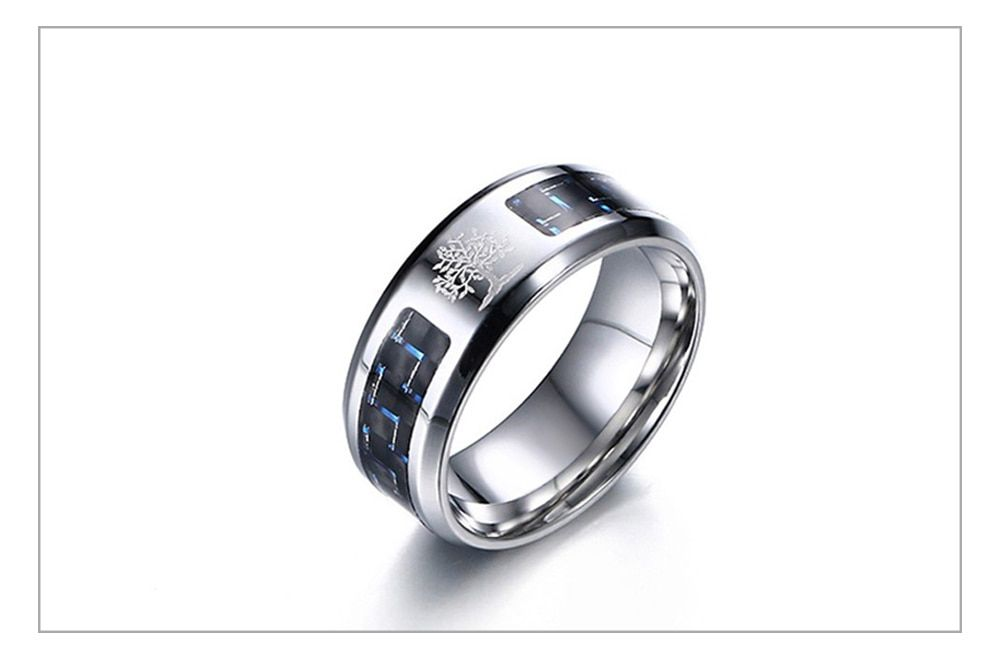 Personalize Carbon Fiber Ring Isthel Rings For Men Carbon Fiber Rings Mens Stainless Steel Rings