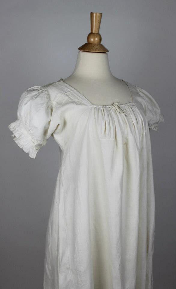 In 1810 Women's From Chemise Sarah – Regency Linen 1825 Antique vmw8n0N