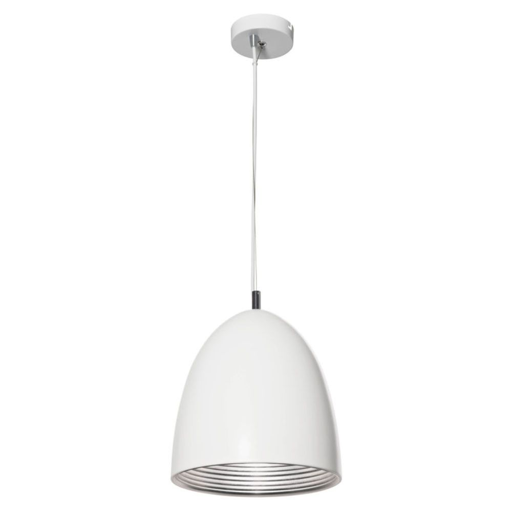 Mort Bay Cone Pendant Lamp White With Silver Masters Home