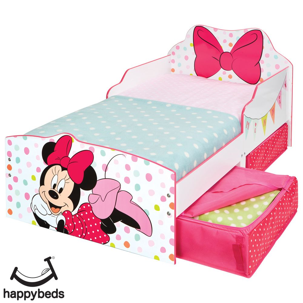 Minnie Mouse Bow Toddler 2 Drawer Storage Bed Minnie Mouse