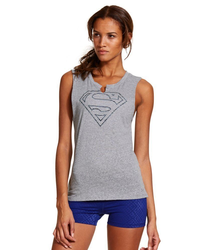 Under Armour Women's UA Supergirl Shirt Sleeveless Crew