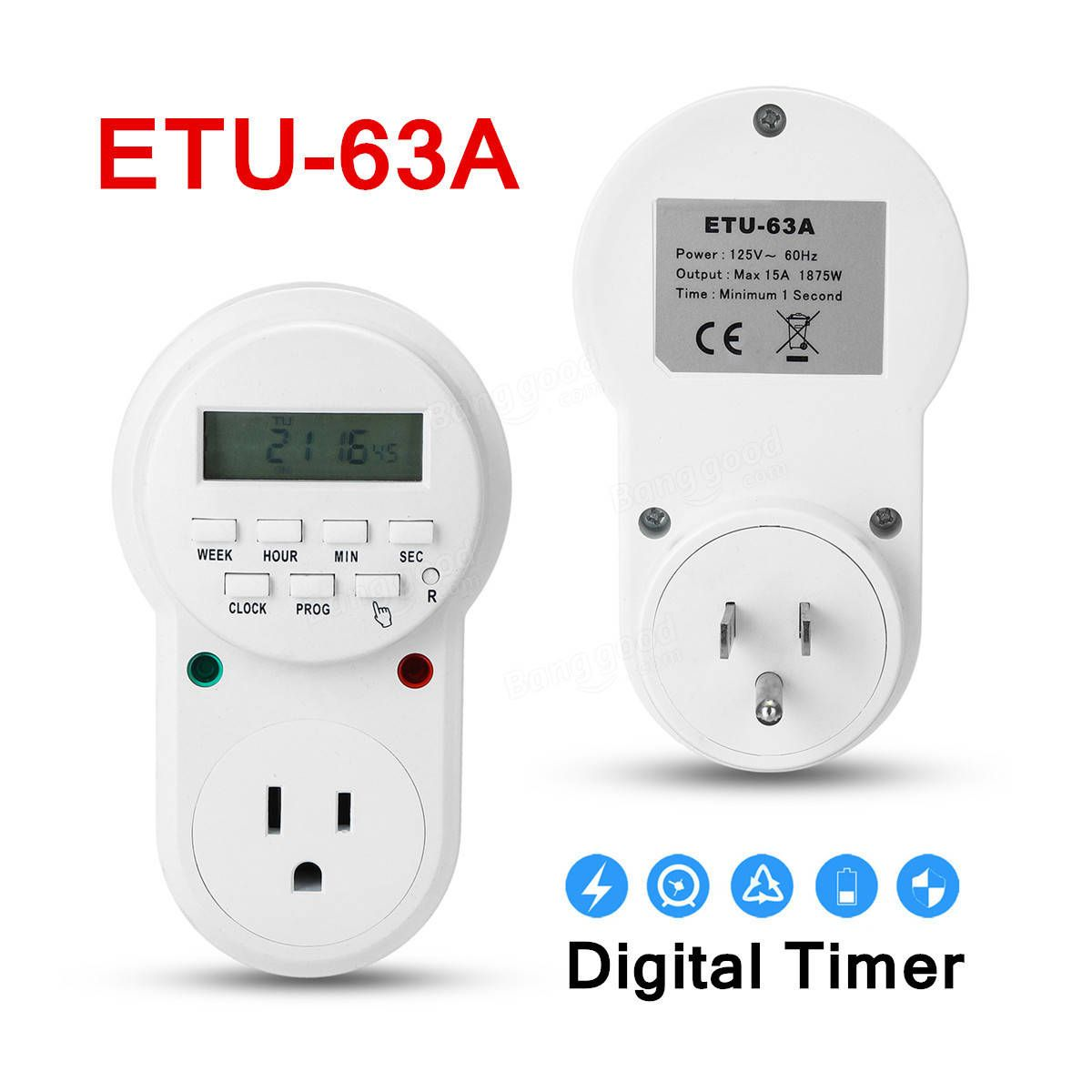 16a 3680w Eu Us Uk Plug Timer Switch Socket Digital Lcd Power Electrical Relay Energy