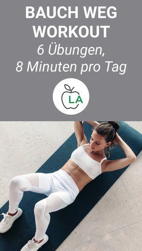 Bauchmuskeltraining für Zuhause - Bauchfett verbrennen mit 6 Übungen #workoutplans