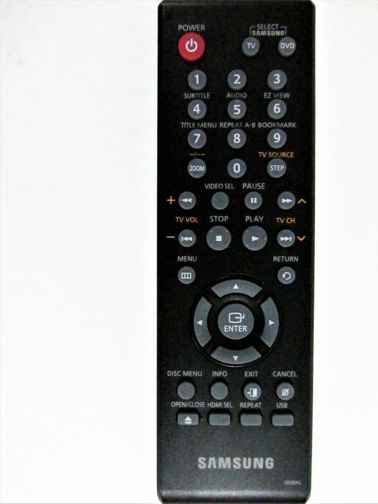 Samsung 00084Q Remote Control DVD Player for Models DVD-1080AV