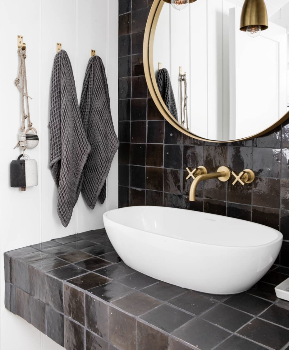 17 Badezimmer schwarze keramik