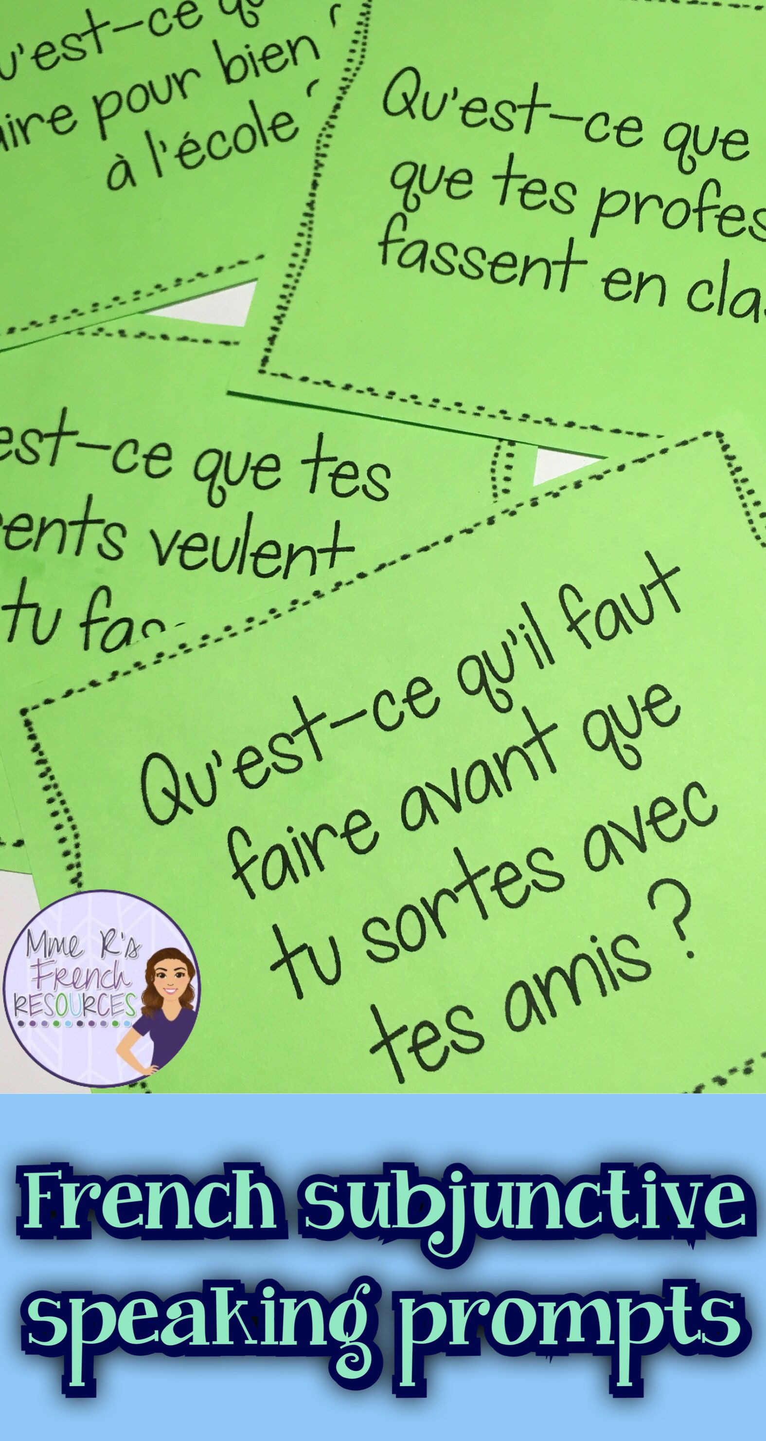 French Speaking Activity