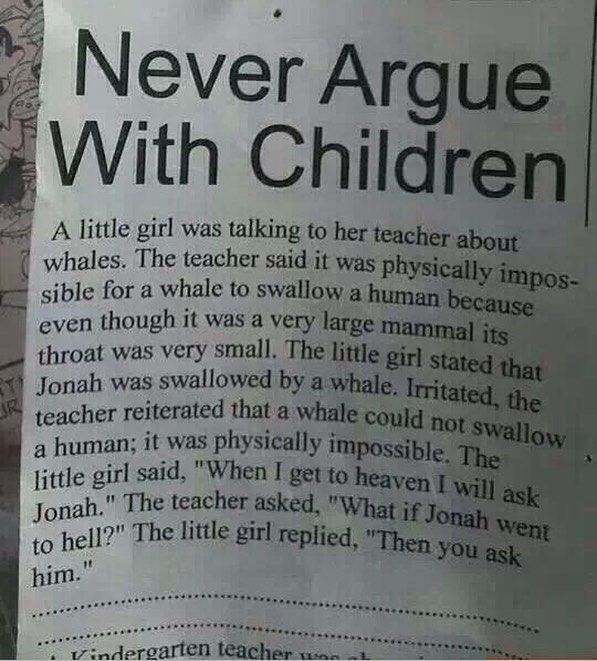 Never argue with children – hilarious quotes