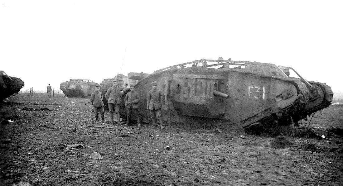 what battle were tanks first used in ww1