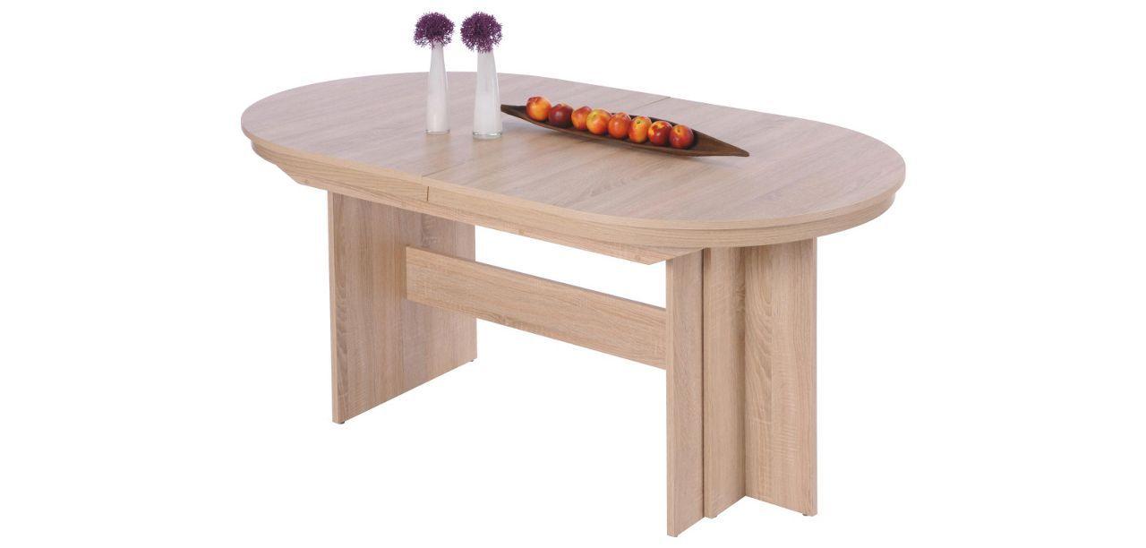 Esstisch Oval Sonoma Eiche Sonoma Eiche Modern Holzwerkstoff
