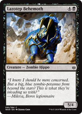 Lazotep Behemoth from War of the Spark Spoiler | MTG | The gathering