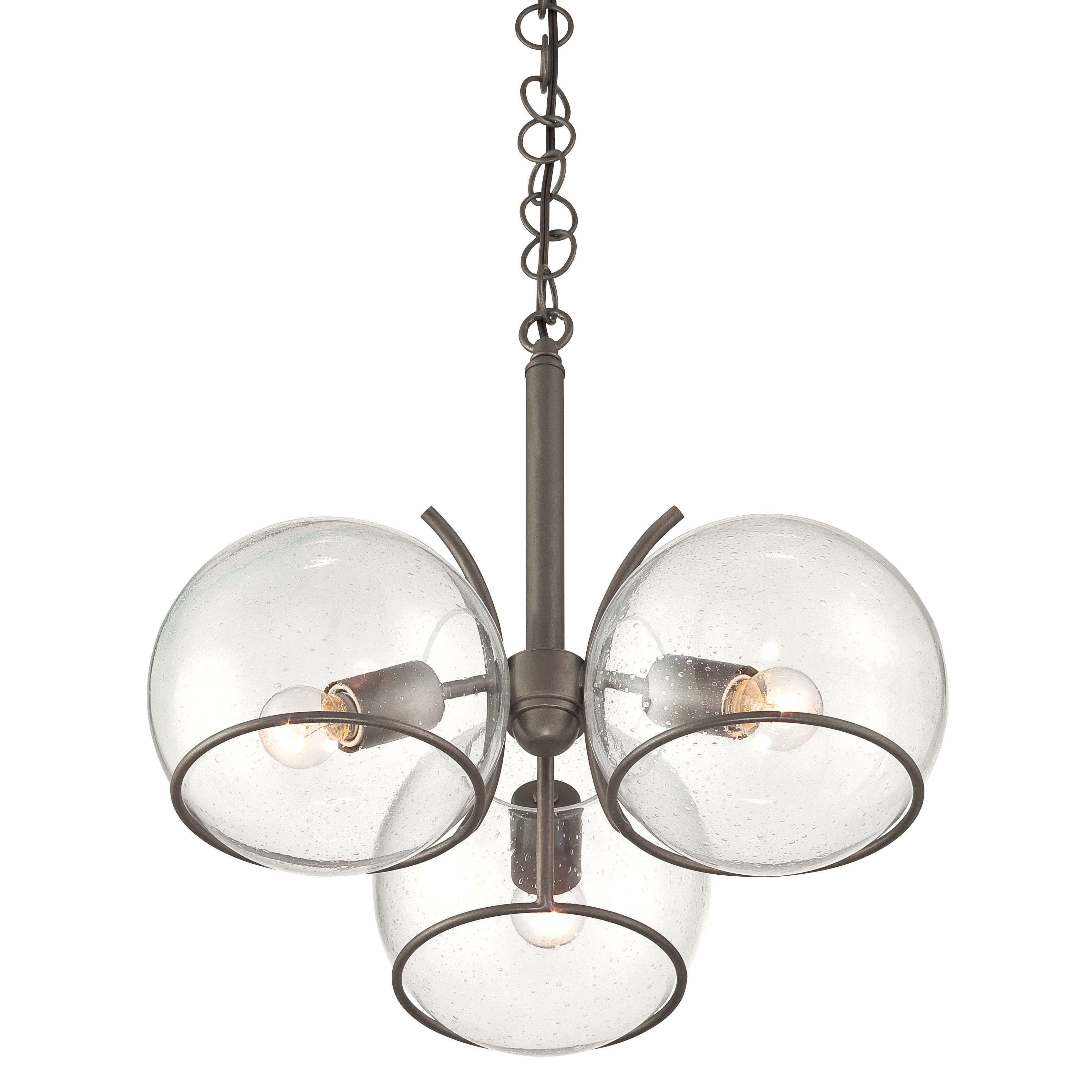 Varaluz watson clear seedy glass and metal 3 light chandelier varaluz watson clear seedy glass and metal 3 light chandelier overstock shopping aloadofball Images