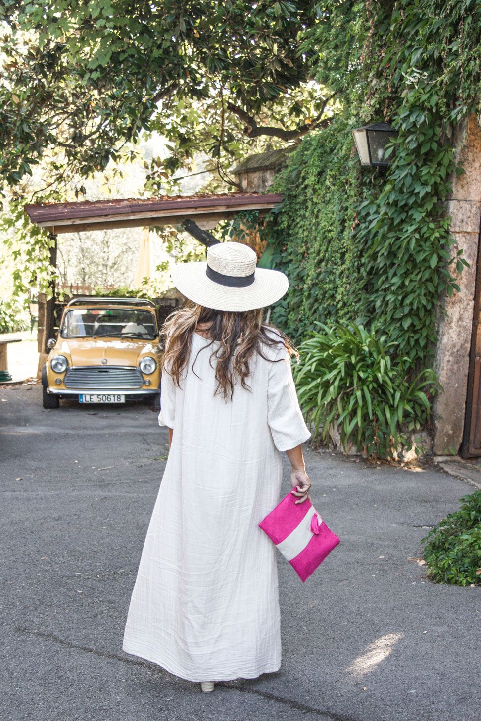 canotier, white maxi dress, look maternity, fashion blogger, summer 2016, holidays