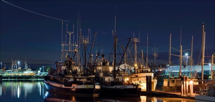 Steveston At Night, Richmond, Vancouver, BC