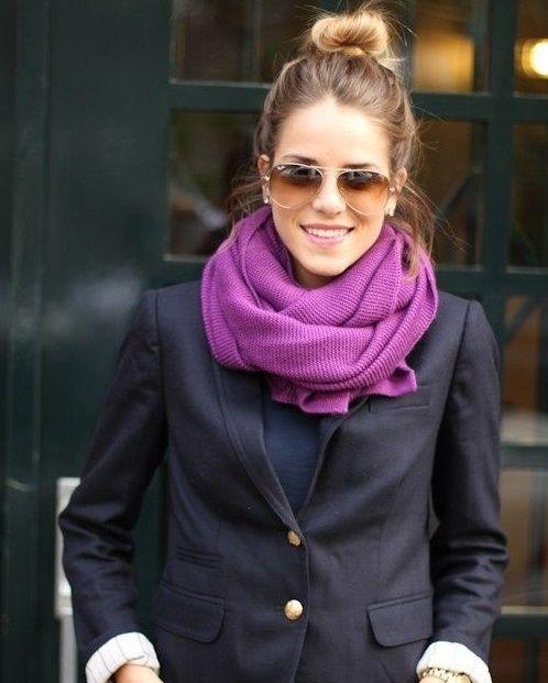 inégale en performance mode de vente chaude taille 40 Porter un foulard avec veste de costume | Nouer un pashmina ...