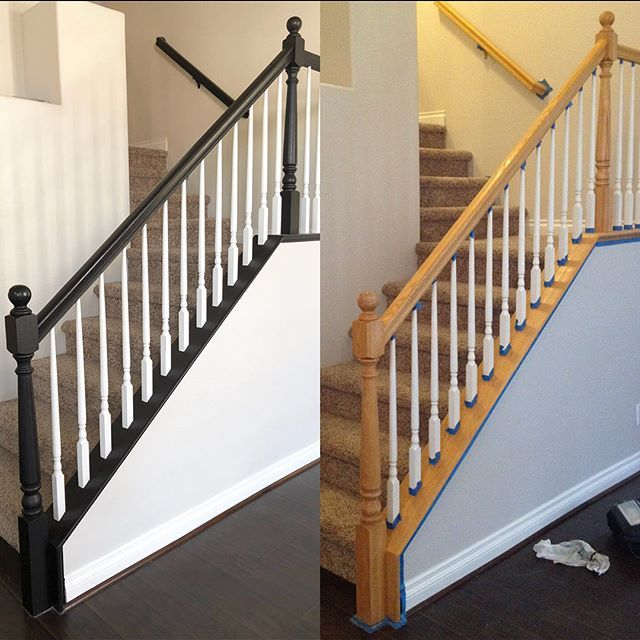 Update Banister With Gel Stain @angeladrosehome