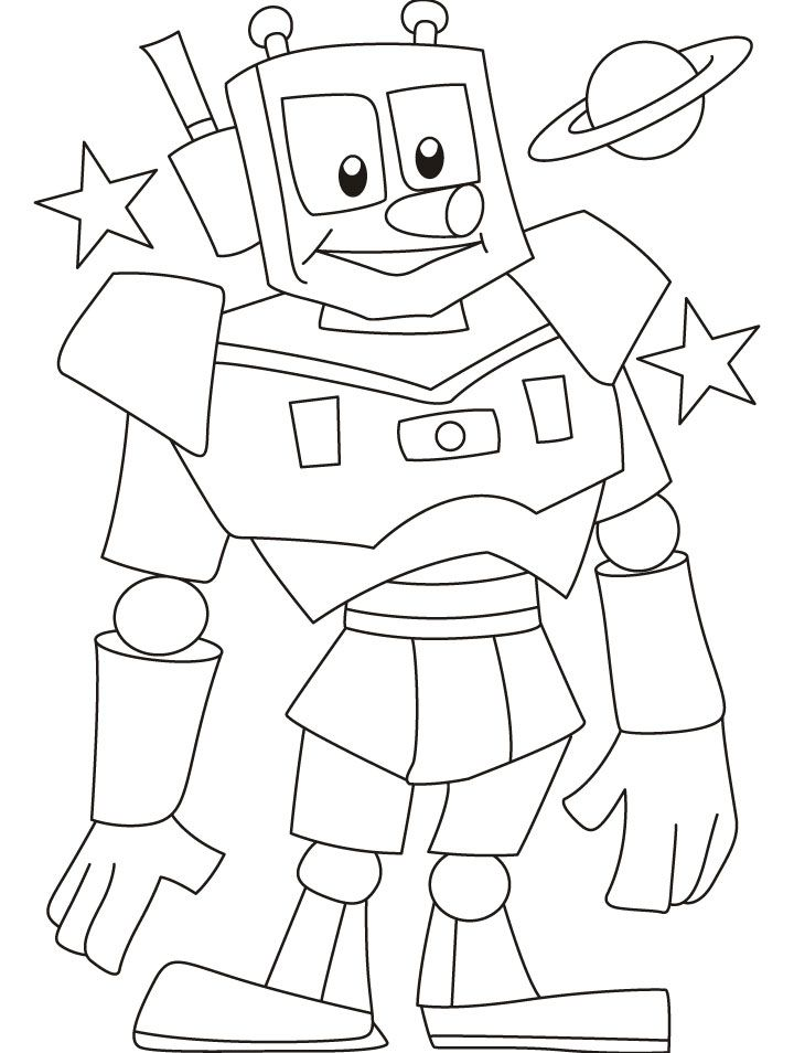 Robot Coloring Pages free digi stamps Pinterest Robot