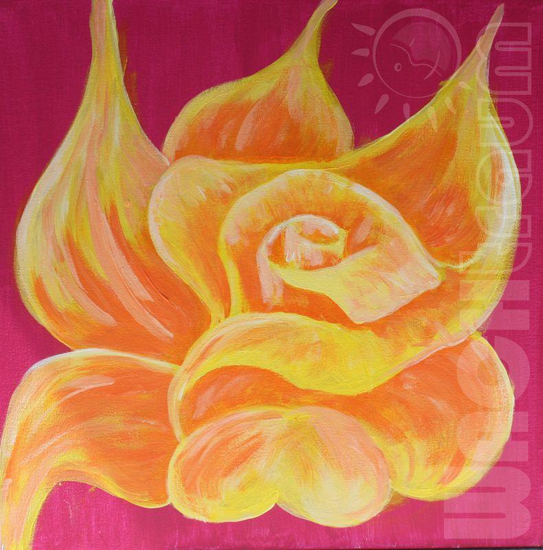 Gelbe Rose By Wachtraum Ch Acryl Auf Leinwand Bilder By